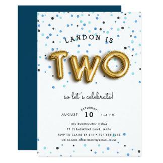 Balloon Type | Second Birthday Party Invitation
