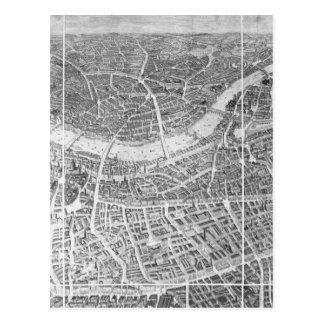 Balloon View of London, 1851 Postcard