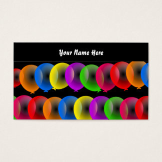 Balloon Wallpaper, Your Name Here Business Card