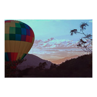 Balloon with Branches Poster