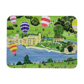 Ballooning at Leeds Castle Rectangular Photo Magnet