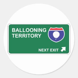 Ballooning Next Exit Classic Round Sticker