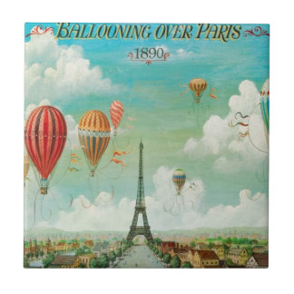 Ballooning Over Paris Tile
