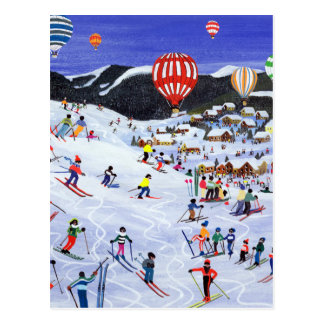 Ballooning over the piste 1995 postcard