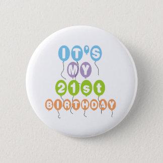 Balloons 21st Birthday 2 Inch Round Button