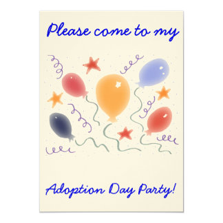 Balloons  Adoption Day Party invitation