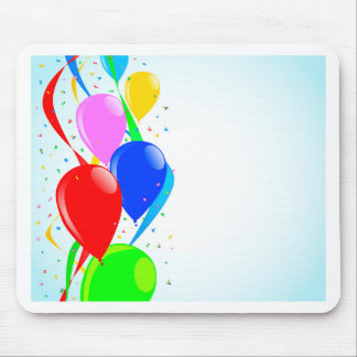 Balloons and Confetti Party Mouse Pad