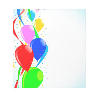 Balloons and Confetti Party Notepads