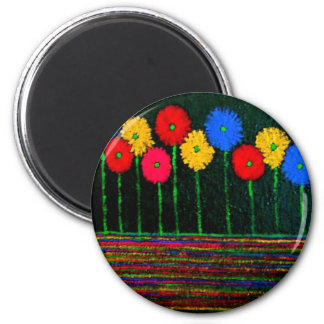 Balloons and Flowers Magnet