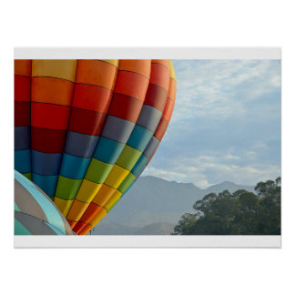 Balloons and Mountains Poster