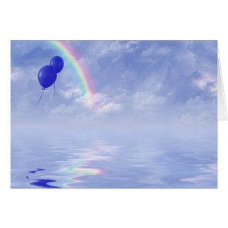balloons and rainbow card