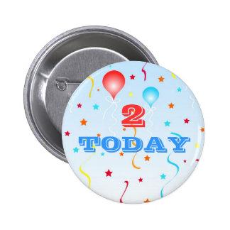 Balloons and stars pin