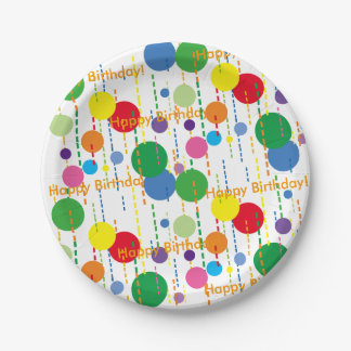 Balloons and Streamers 7-Inch Party Plate 7 Inch Paper Plate