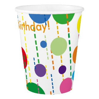 Balloons and Streamers Paper Party Cup Paper Cup