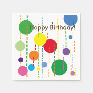 Balloons and Streamers Party Napkin Paper Napkins