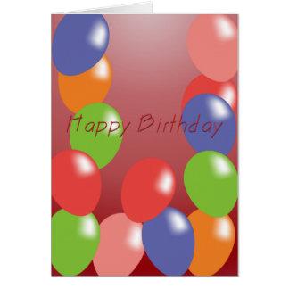 balloons birthday card
