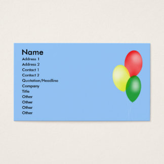 Balloons Business Cards