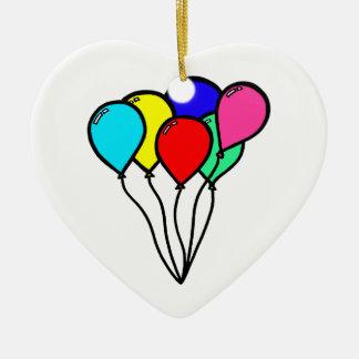 Balloons Ceramic Ornament