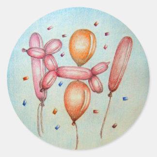 Balloons Classic Round Sticker