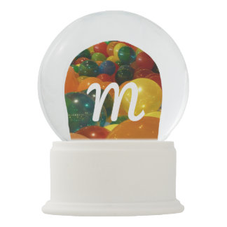 Balloons Colorful Party Design Snow Globe