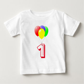 Balloons Custom Year Old Birthday Baby T-Shirt