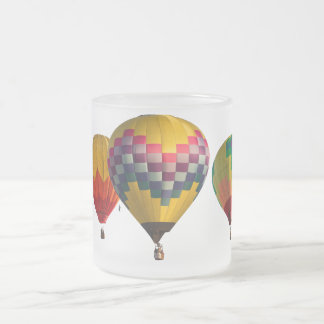 BALLOONS FROSTED GLASS COFFEE MUG