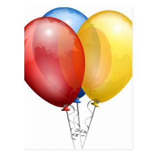 balloons fun postcard