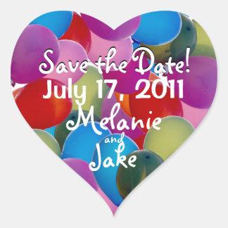 Balloons Galore Heart Sticker