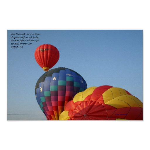 Balloons, God made the stars, poster
