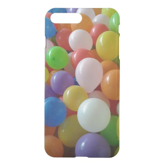 Balloons iPhone X/8/7 Plus Clear Case