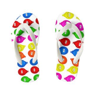 balloons kid's flip flops