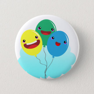 balloons love to fly 2 inch round button
