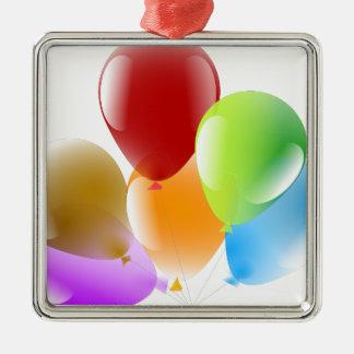 Balloons Metal Ornament