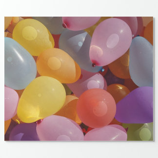 Balloons on Gift Wrapping Paper