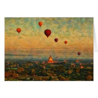 Balloons Over Bagan Card