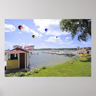 Balloons over Lake Geneva WI Poster Print