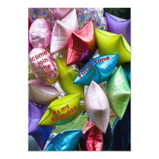 balloons party invitation