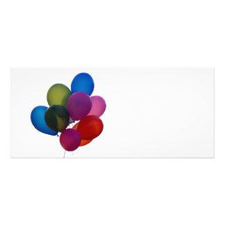 balloons rack card