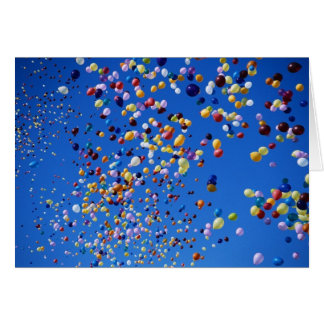 Balloons Rising - Birthday Card