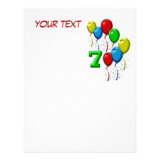 balloons seven years custom letterhead