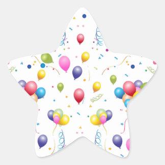 Balloons Star Sticker
