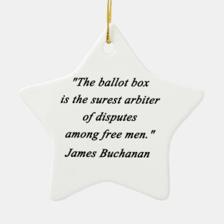 Ballot Box - James Buchanan Ceramic Star Ornament