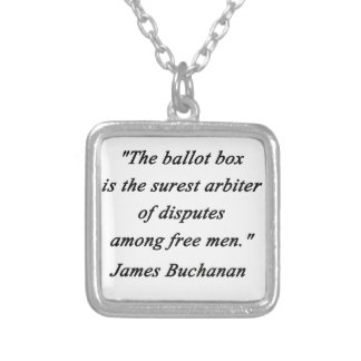 Ballot Box - James Buchanan Silver Plated Necklace