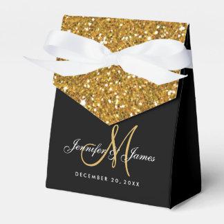 Ballotin élégant de mariage de scintillement d'or ballotins de dragées