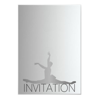 Ballroom Classic Dance Festival Vip Silver Gray Card