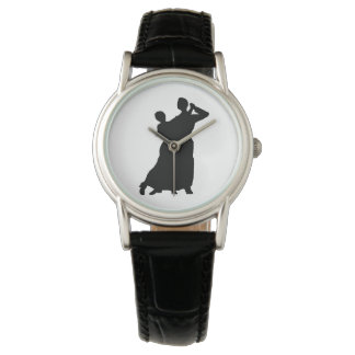 """Ballroom Couple"" Leather Watch"