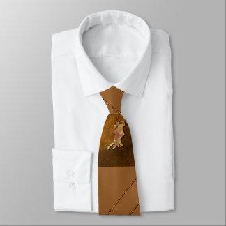 Ballroom Dance Brown Necktie