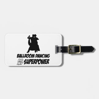 ballroom  dance luggage tag
