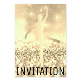 Ballroom Dancer Piruette Foxier Titanium Ivory Card