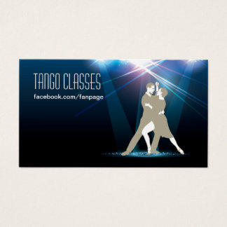 Ballroom Dancers in the Spotlight Tango Classes Business Card